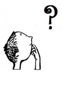 Mann med spørsmål